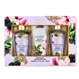 Ivy & Castle 3-Piece Blackberry Magnolia Bath Collection view 1