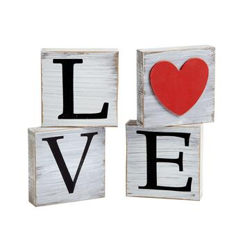 """Love"" Wood Blocks Set"