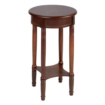 Walnut Wood Round Accent Table