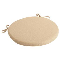 Solid Beige Indoor/Outdoor Round Bistro Seat Pad