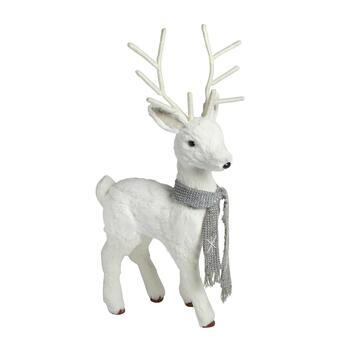 29 White Sisal Deer Decor
