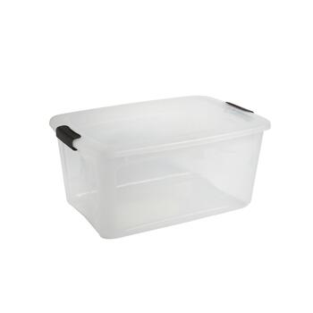 54-qt. Clear Storage Box with Locking Lid