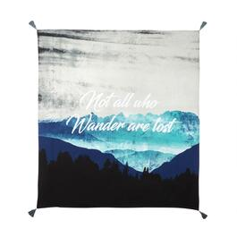 "60"" ""Not All Who Wander"" Fringe Tapestry Throw"