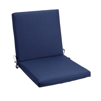 Solid Cobalt Indoor/Outdoor Mid-Back Chair Pad