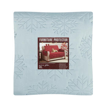 Snowflake Microfiber Sofa Furniture Protector view 1