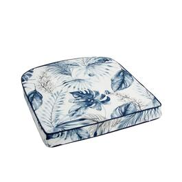 Coastal Living Seascapes™ Palm Leaves Indoor/Outdoor Tufted Seat Pad