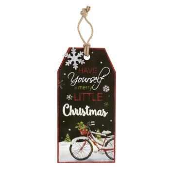 "23"" ""Merry Little Christmas"" Bicycle Wall Hanger"