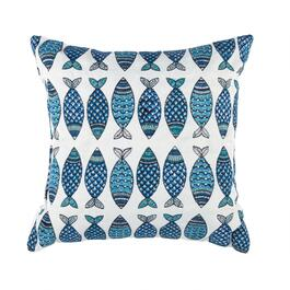 Fish Square Throw Pillow