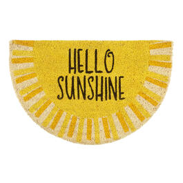 """Hello Sunshine"" Slice Coir Door Mat view 1"