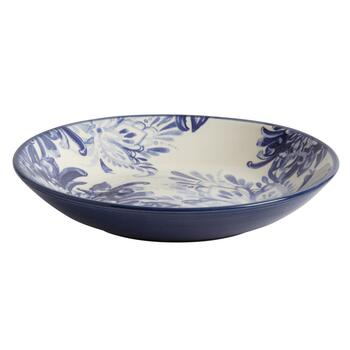 Blue Floral Serving Bowl view 2