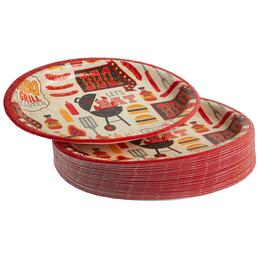 """Let's Eat"" Oval Paper Plates, 40-Count"