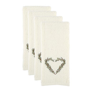 Twig Heart Cotton Hand Towels, Set of 2 view 1