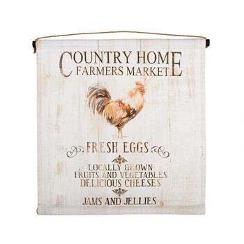 "24"" ""Country Home Farmers Market"" Tapestry Wall Decor"