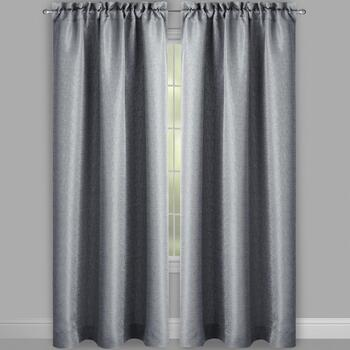 "63"" Highbridge Solid Textured Window Curtains, Set of 2 view 2"