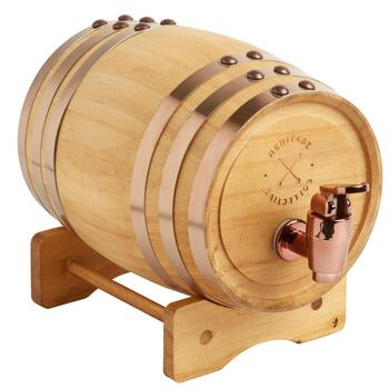 1-Liter Whiskey Barrel Beverage Dispenser