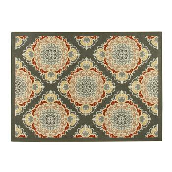 4'x6' Red/Pink Tile Print Area Rug