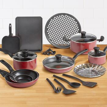 T-Fal™ Nonstick Cookware Set, 20-Piece