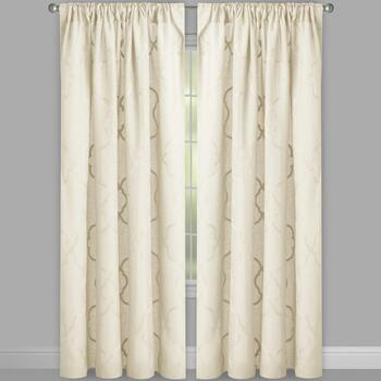 "96"" Caroline Embroidered Geo Window Curtains, Set of 2 view 2"