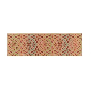 Multicolor Floral All-Weather Area Rug view 2 view 3 view 4