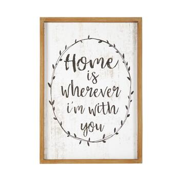 "The Grainhouse™ 19""x27"" ""Whenever I'm with You"" Framed Wall Decor"