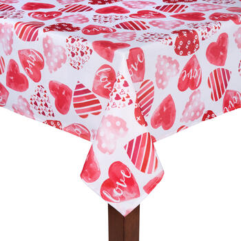 """Love"" Hearts Tablecloth view 1"