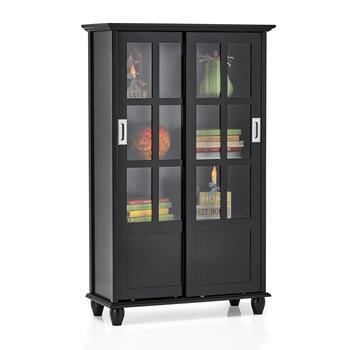 Solid Sliding Door Bookcase