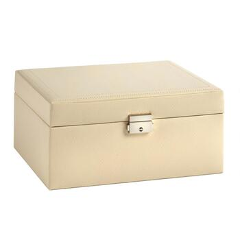 Somerset Cream Faux Leather Jewelry Box view 2