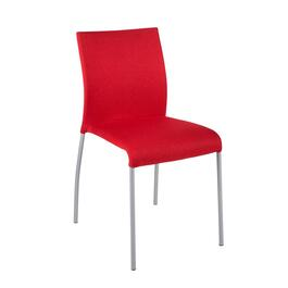 Red Upholstered Metal Frame Chair