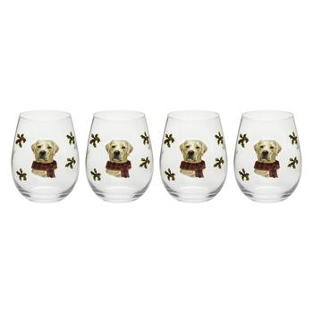 18-oz. Lab with Scarf Stemless Wine Glasses, Set of 4