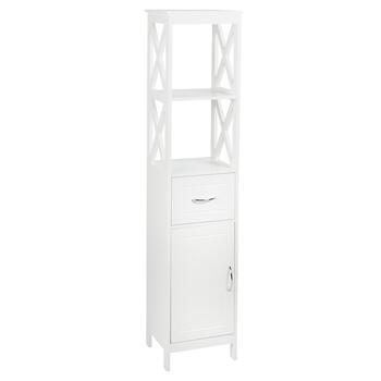 "59.25"" White 1-Drawer/1-Cabinet X-Sided Towel Tower view 2"