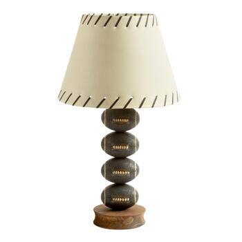 "24"" Stacked Footballs Table Lamp"