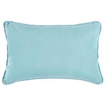 Coastal Metallic Button Oblong Throw Pillow view 2