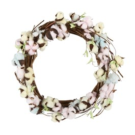 "21"" Cotton Flower Wreath view 1"
