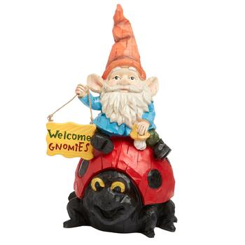 13 Welcome Gnomies Garden Gnome And Ladybug