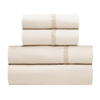 Solid Microfiber Chalet Embellished Sheet Set