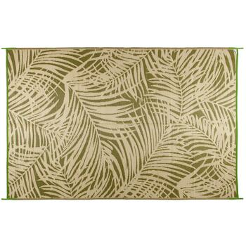 Fern Green Palm Reversible All-Weather Patio Mat view 2