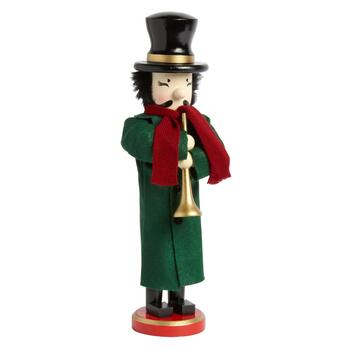 "15"" Horn-Blower Holiday Nutcracker"