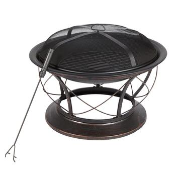 "13.75"" Fire Pit and Poker Set"