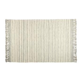 "The Grainhouse™ 5'3""x7'6"" Ivory/Gray Dhurrie Area Rug"