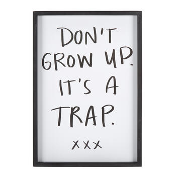 "19""x27"" ""Don't Grow Up"" Framed Wall Decor view 1"