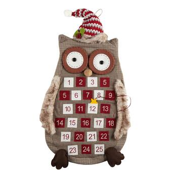 "44"" Holiday Owl Hanging Advent Calendar"