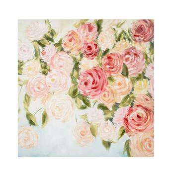 "30"" Pink Flowers Canvas Wall Art"
