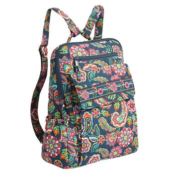 Paisley Quilted Backpack