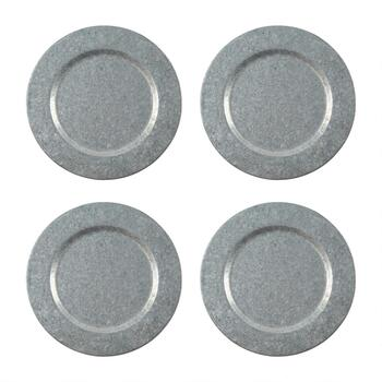 "The Grainhouse™ 13.25"" Metal Charger Plates, Set of 4"