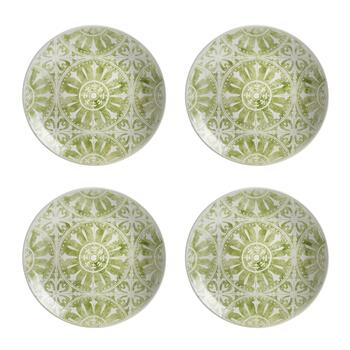 The Grainhouse™ Medallion Tile Salad Plates, Set of 4