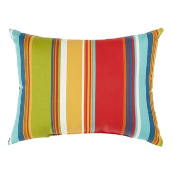 Fiesta Stripe Indoor/Outdoor Oblong Throw Pillow