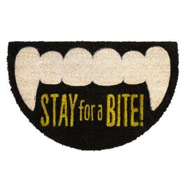 "18""x28"" ""Stay for a Bite"" Shaped Halloween Coir Door Mat"