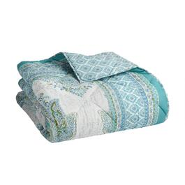 Green/Blue Reversible Cotton Quilt