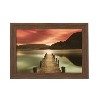 "30""x42"" Sunset Dock Photograph Wall Art"