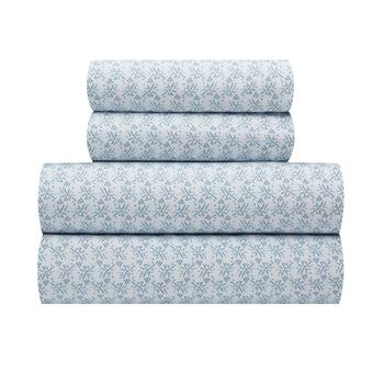 Flannel Rooster™ Warm White/Blue Icicles Sheet Set